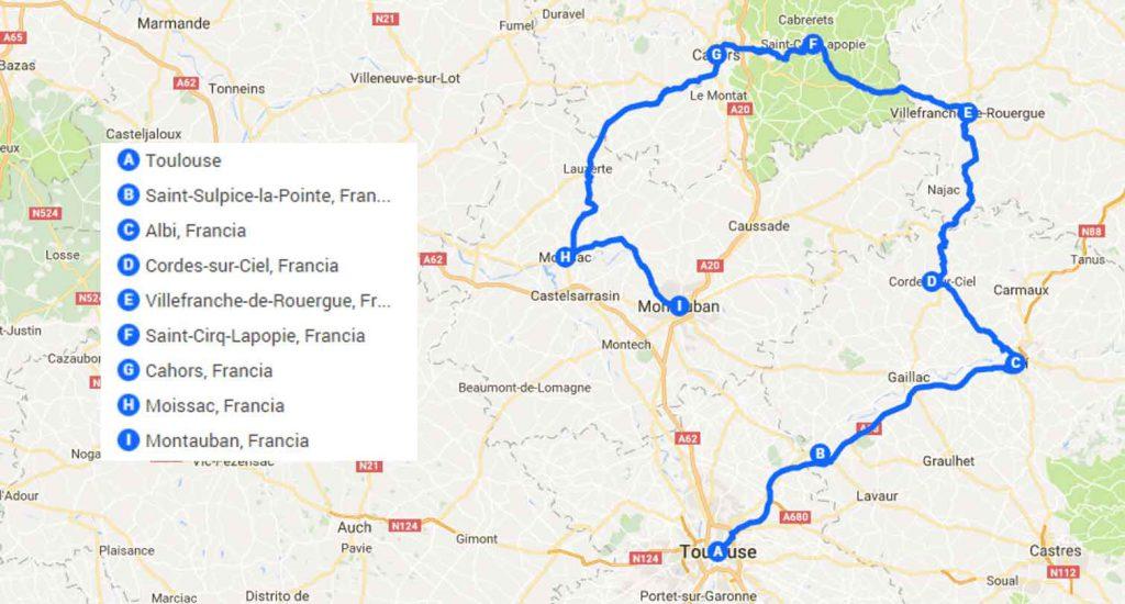Ruta por Midi Pyrenees